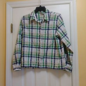 Alfred Dunner Women's Button Down Blouse Size 12P